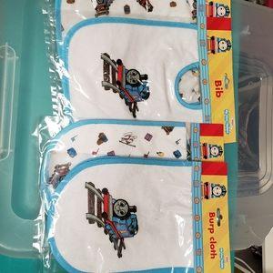 Thomas the Tank Engine Bibs & Burp Cloths NEW!